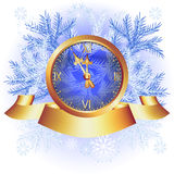 Christmas background with chimes Stock Image