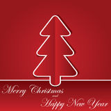 Christmas background with chrastmas tree Royalty Free Stock Images