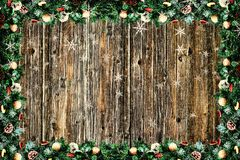 A christmas background. Wood textured Stock Image
