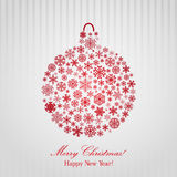 Christmas background with Christmas ball royalty free illustration
