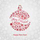 Christmas background with Christmas ball Royalty Free Stock Images