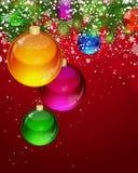 Christmas background with Christmas balls. Stock Photography