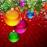 Christmas background with Christmas balls. Stock Photo