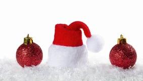 Christmas background with Christmas balls Stock Photo