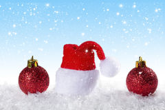 Christmas background with Christmas balls Stock Images
