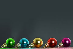 Christmas background with Christmas balls Royalty Free Stock Images