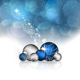 Christmas background with christmas balls and decoration Stock Photography