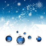 Christmas background with christmas balls and decoration Royalty Free Stock Image