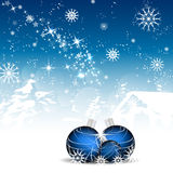 Christmas background with christmas balls and decoration Royalty Free Stock Images