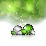 Christmas background with christmas balls and decoration Stock Photo