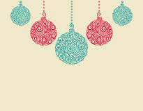 Christmas background. Christmas balls. Great for g. Christmas background with Christmas balls. Great for greeting cards stock illustration