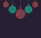 Christmas background with Christmas balls Hanging . Stock Images