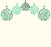 Christmas background with Christmas balls Hanging . Royalty Free Stock Photos