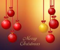 Christmas background with Christmas balls Royalty Free Stock Image