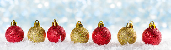 Christmas background with Christmas balls Royalty Free Stock Photo