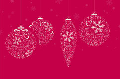 Christmas background with christmas balls and place for your tex Royalty Free Stock Photography