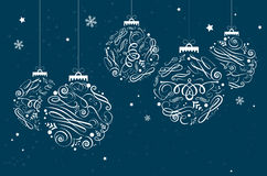 Christmas background with christmas balls and place for your tex. T - vector illustration stock illustration