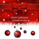 Christmas background with christmas balls in red color Stock Photos