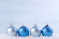 Christmas background with Christmas balls. Royalty Free Stock Photo