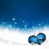 Christmas background with christmas balls, snowflakes and stars Royalty Free Stock Images