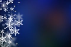 Christmas background. Christmas blue background with snowflakes Royalty Free Stock Images