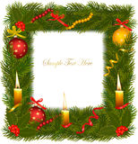 Christmas background with christmas candle Stock Photography