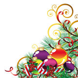 Christmas background with Christmas Decor royalty free stock images