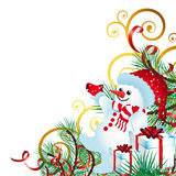Christmas background with Christmas Decor Royalty Free Stock Photo