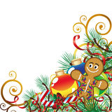 Christmas background with Christmas Decor. Christmas background   - an illustration for yor design project. Very easy to edit  file Royalty Free Stock Image