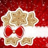 Christmas background with christmas decor elements Stock Image