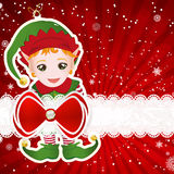 Christmas background with christmas decor elements Royalty Free Stock Photo