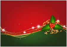 Christmas Background with Christmas Holly royalty free illustration
