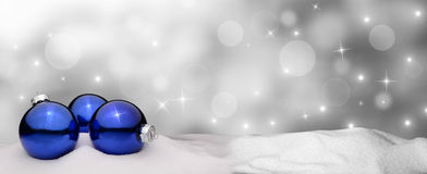 Christmas background - Christmas Ornament blue - Snow. Christmas background - Christmas Ornaments blue - Snow Royalty Free Stock Photos