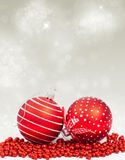 Christmas background with Christmas ornaments Stock Images