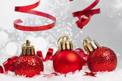 Christmas background with Christmas ornaments Stock Photo