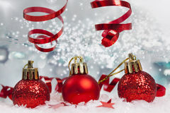 Christmas background with Christmas ornaments Royalty Free Stock Image