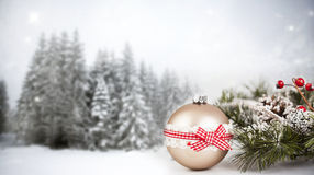 Christmas background with Christmas ornaments Stock Image