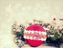 Christmas background with Christmas ornaments Royalty Free Stock Photos