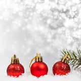 Christmas background with Christmas ornaments Royalty Free Stock Images