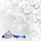 Christmas background with Christmas ornaments Stock Photography