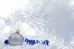 Christmas background with Christmas ornaments Stock Photos