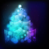 Christmas background with Christmas tree Stock Photography