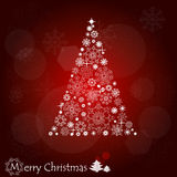 Christmas background with Christmas tree. Royalty Free Stock Images