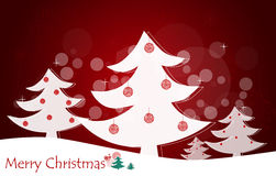 Christmas background with Christmas tree. Stock Photo