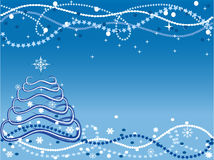 Christmas background with Christmas Tree Stock Photo