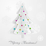 Christmas background with christmas tree Stock Images
