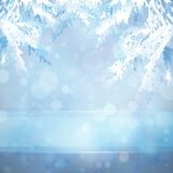 Christmas background with Christmas tree branches royalty free illustration