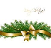 Christmas background with christmas tree branches Royalty Free Stock Photography