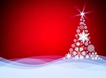 Christmas background with Christmas tree. Christmas card template Stock Image