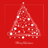 Christmas background with Christmas tree. Christmas card. Royalty Free Stock Images